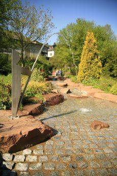 Wasserspiele im Kurpark in Bad Endbach