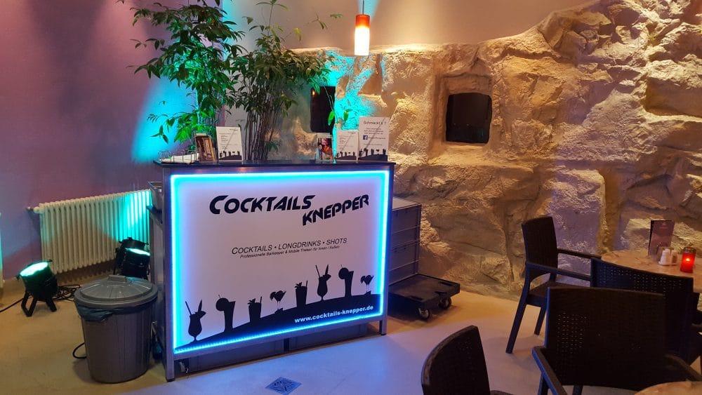 Knepper Management - Mobile Cocktailbar in der Sauna