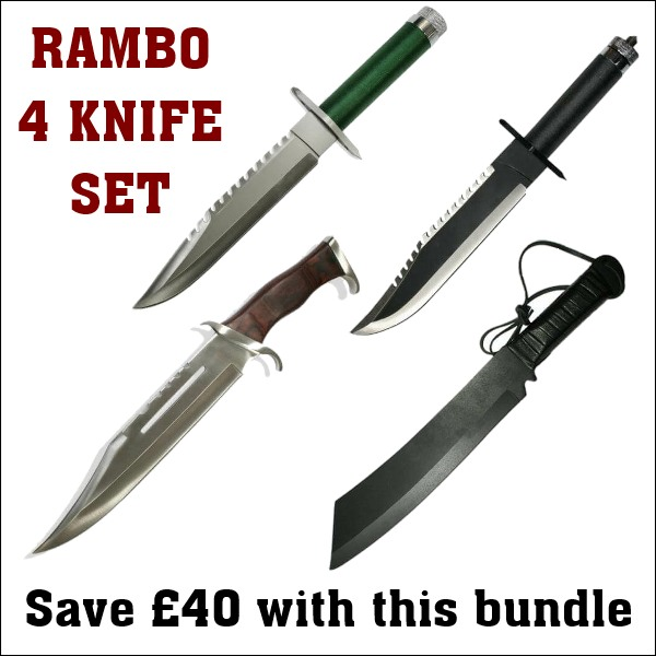 Rambo Knife Collection Offer- 4 Knives - Knifewarehouse