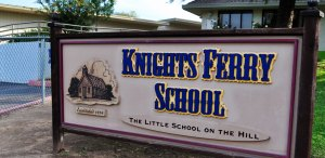 Image of Knights Ferry School Sign