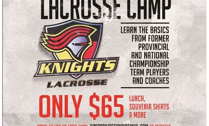 Knights Jr B hosting introductory lacrosse camp