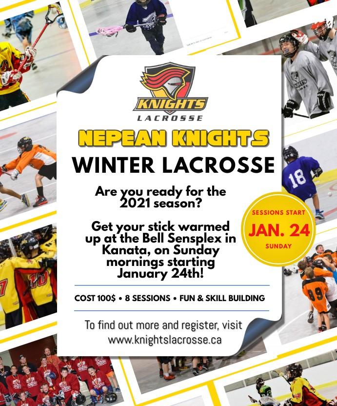 2021 Winter Lacrosse Registration is now open