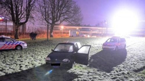 De jongens reden met hun auto het Noorderpark in en probeerden uiteindelijk lopend te ontkomen