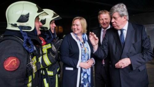 Gisteren was minister Opstelten in Enschede om afspraken te maken met zijn Duitse collega en de burgemeester van Gronau over samenwerking bij rampenbestrijding ANP