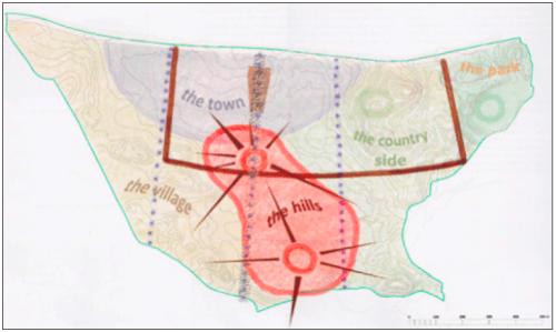 In het ambitieuze plan wordt Wechi ingedeeld in stedelijk-, dorp-, landelijk-, heuvel- en parkgebied.