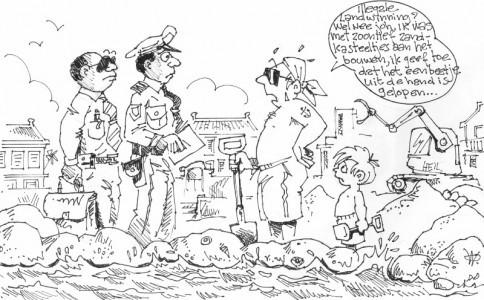 Illegale landwinning? | AD cartoon