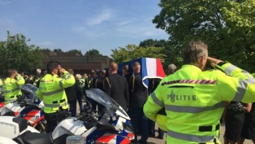 uitvaart van Bakx afgelopen zaterdag in Tilburg (foto Omroep Brabant)