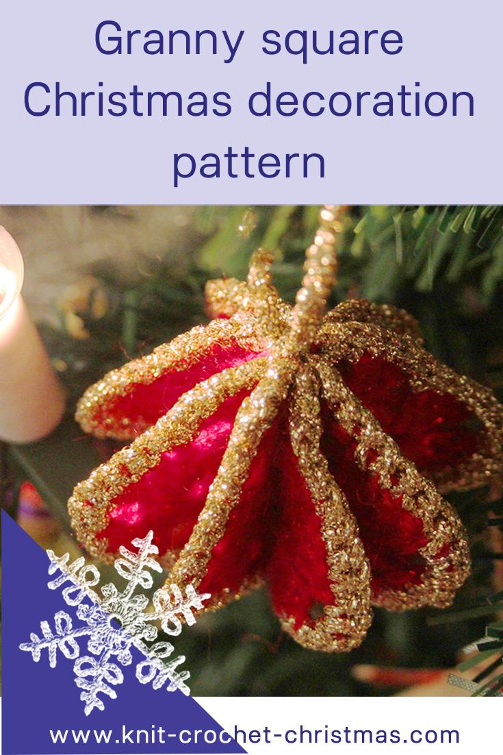 Granny Square Christmas Tree Decoration Knit Amp Crochet