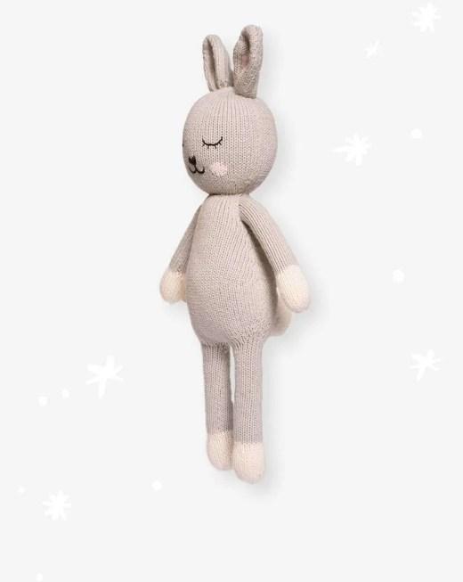 Peluche de conejo de algodón organico artesanal
