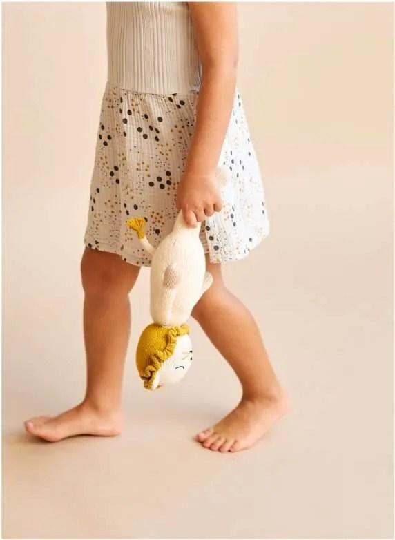 Peluche de león de algodón organico artesanal