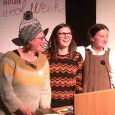 Felix chaired Ella and Kate's talk on collecting vintage knitwear