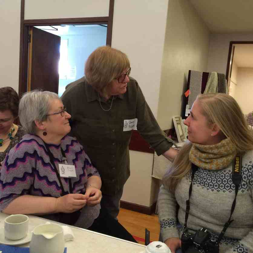 Hazel Tindall and Joan Poleson chat with Mica, from EYF