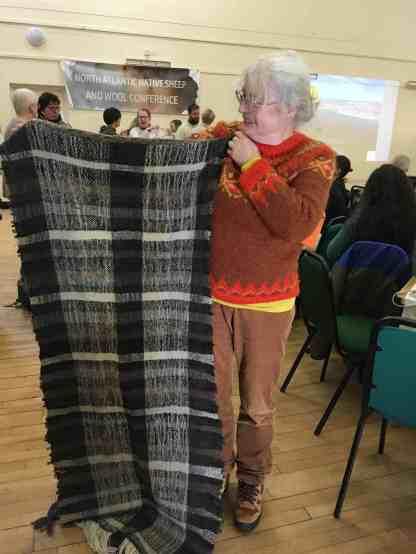 Gillian Thomas and her incredible woven blanket