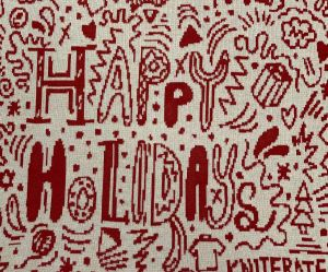 the Happy Holidays pattern
