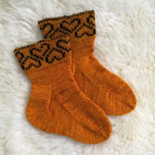 Gusset heel pattern for toe up socks