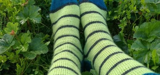 Rounded toe pattern, stripe socks