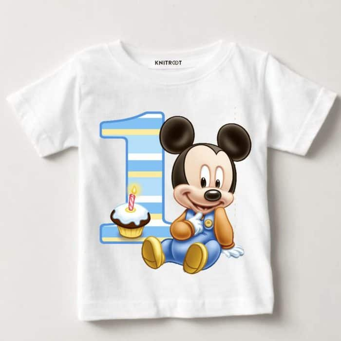 Mickey Mouse 1st Birthday T Shirt Very Best 449 Knitroot