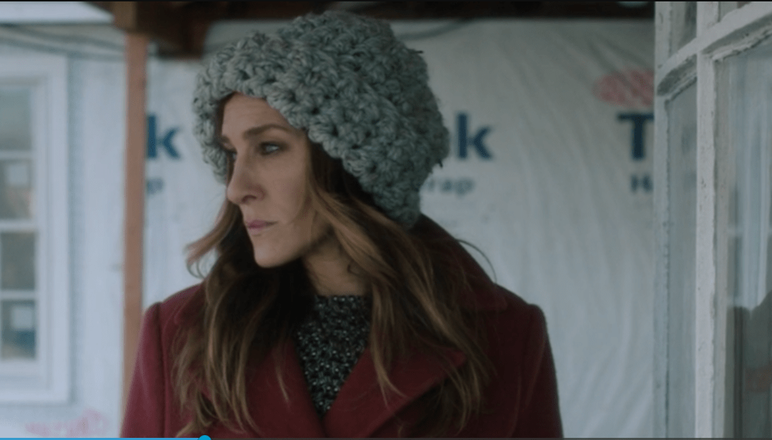 Sarah Jessica Parker Wins at Wearing a Chunky Knit Hat • Knit\'s All ...