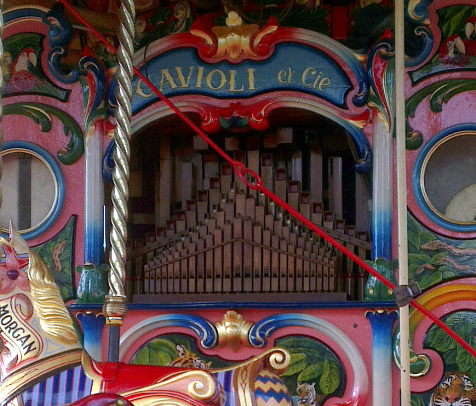 Steam Organ at Carter's Steam Fair, April 2014