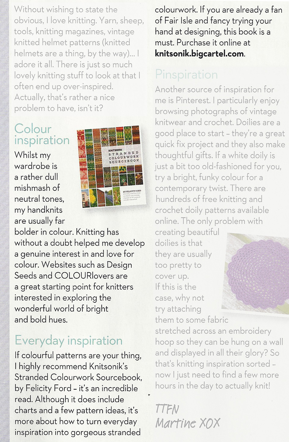 Let's Knit magazine, January 2015