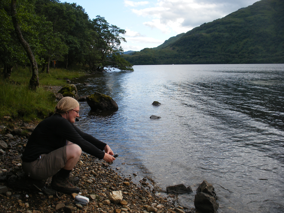 Recording in the field with EDDIE, 2009, along the West Highland Way