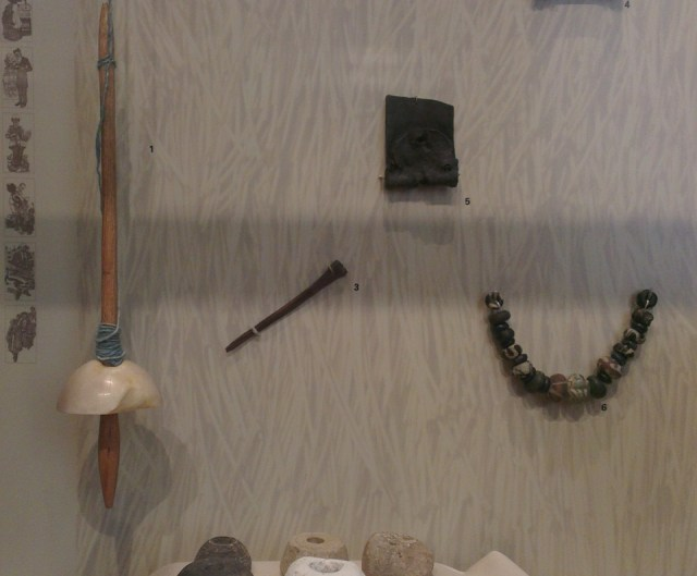 Saxon spindles and sewing tools from the collection of The Museum of Oxford