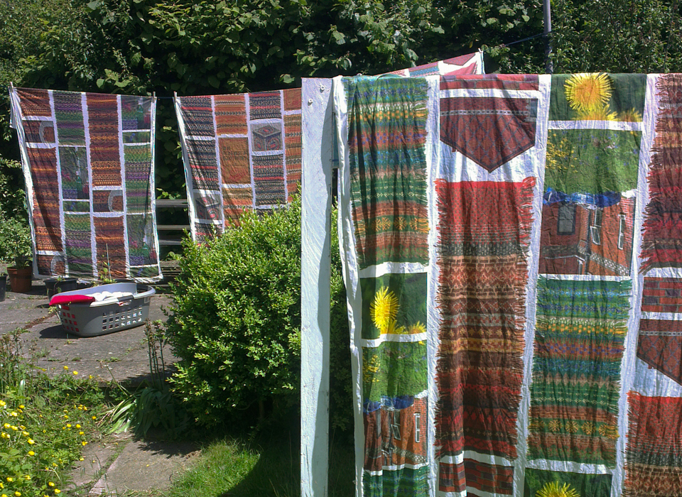 KNITSONIK fabric for the exhibition at WOOLFEST