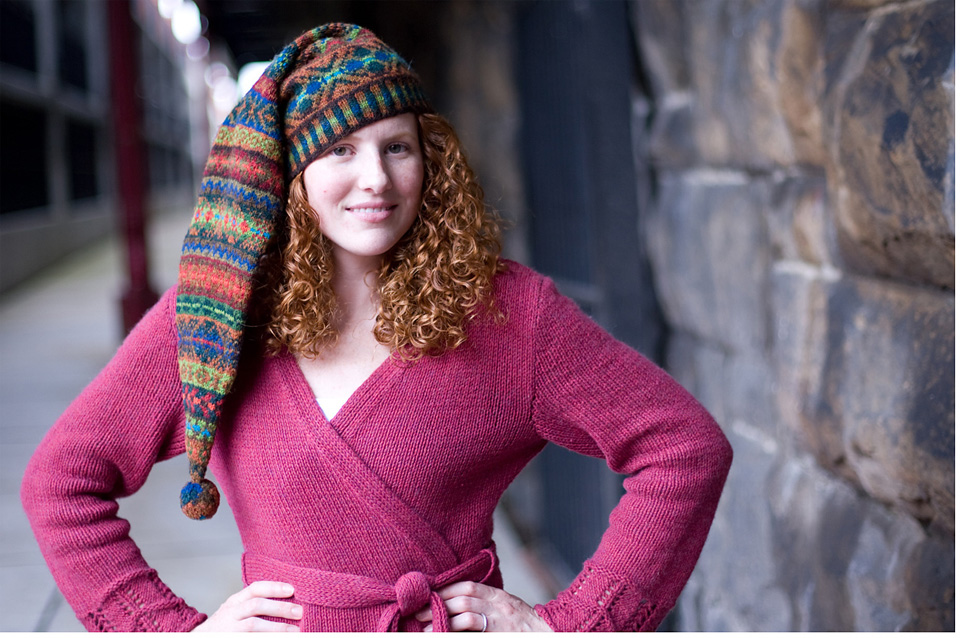 """""""Mary Jane Mucklestone likes to knit hats as a way to experiment with color combinations and Fair Isle patterns."""""""