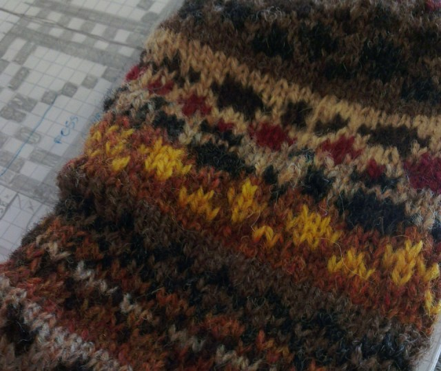 knitted fruitcake (but no actual fruitcake) on the train