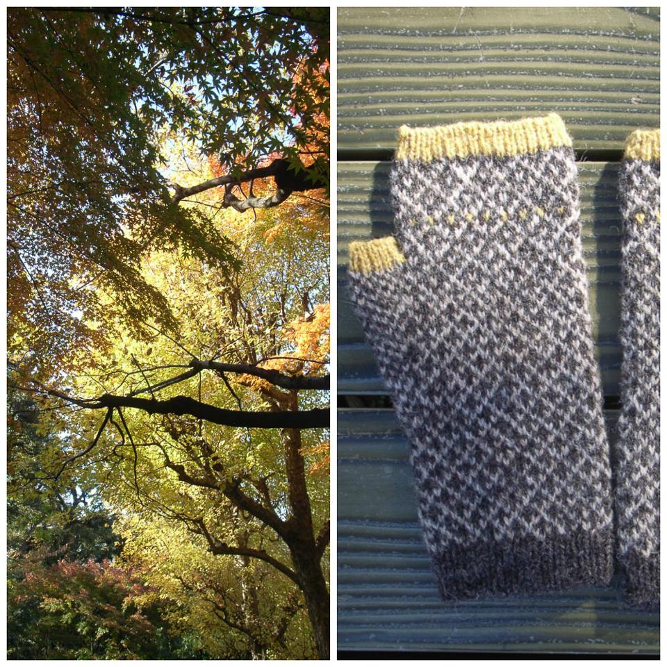 Komorebi mitts designed by Yumi