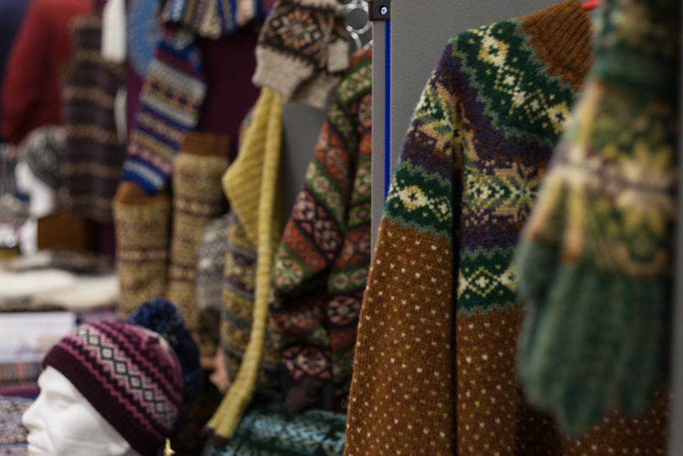 Fair Isle Knitting worked by members of The Shetland Guild