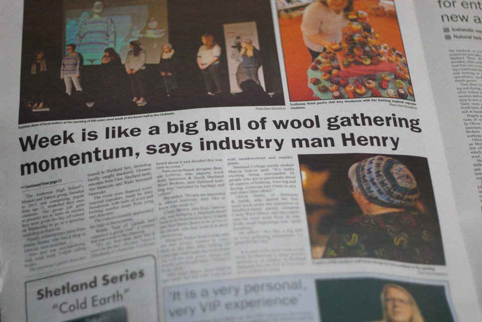 The Shetland Times - thank you Francoise