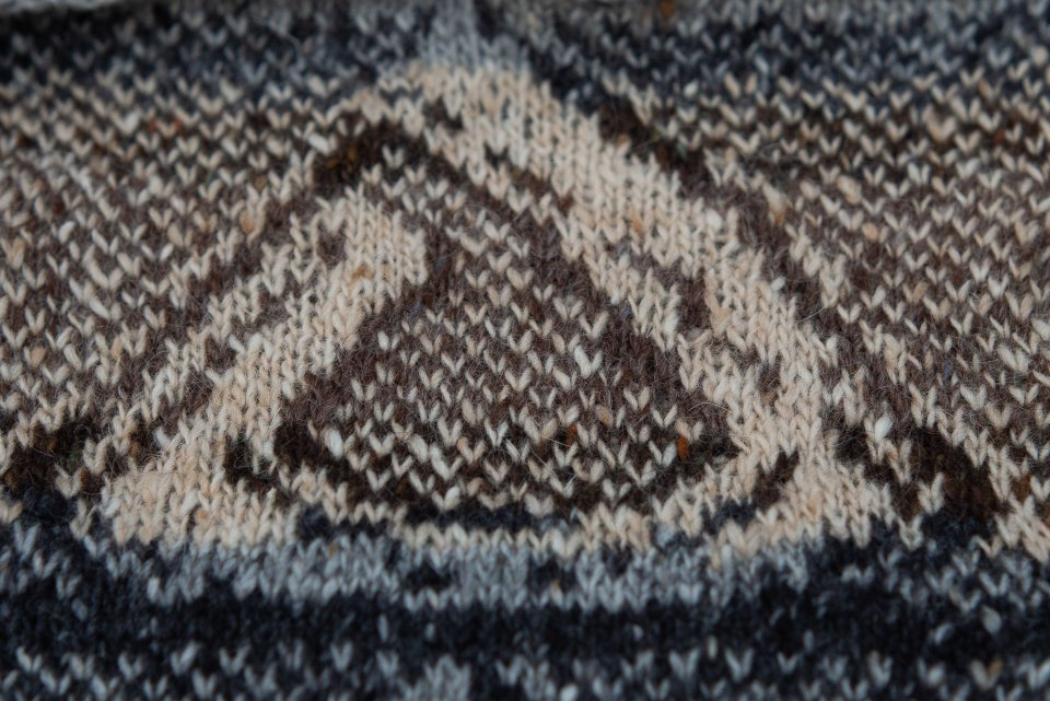 Thicker Bread roll knitted from second chart