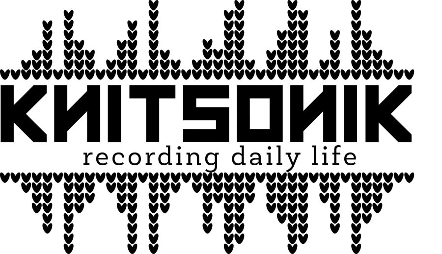 knitted soundwaves surrounding the phrase KNITSONIK: recording daily life