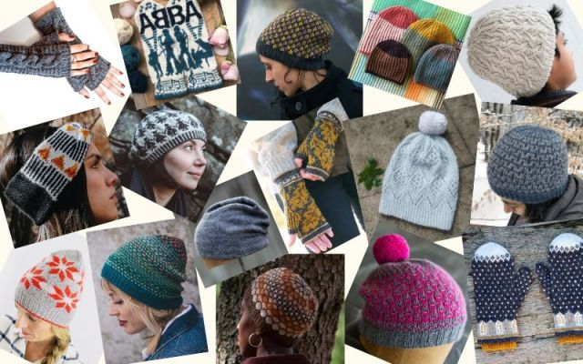 A montage of knitwear design images taken from the MDK website