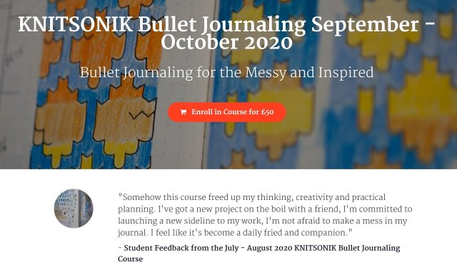 KNITSONIK Bullet Journaling - Bullet Journaling for the Messy and Inspired