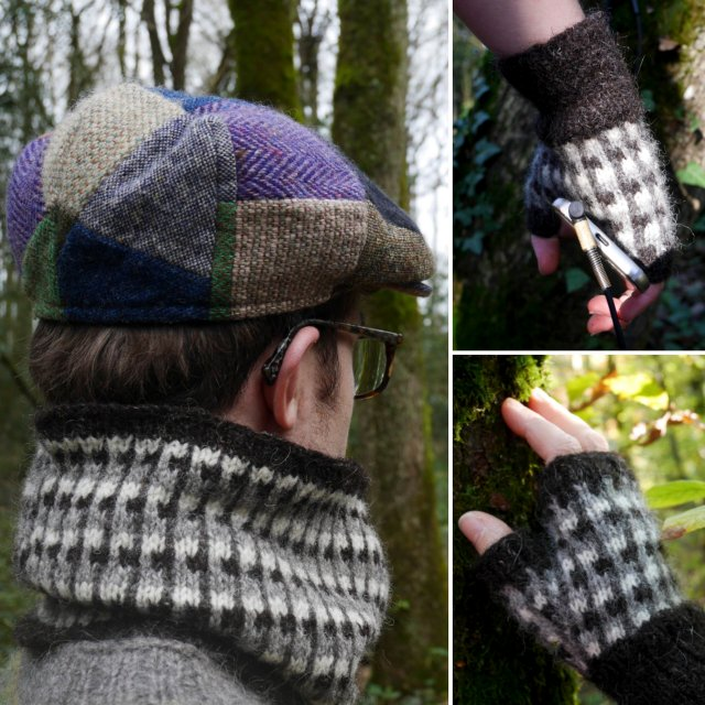 Knit Loud Mitts and Cowl set by Labistrake
