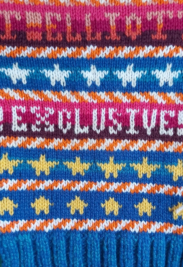 * Elliott * Exclusive! - closeup of the new swatch for the Missy Elliott Sweater