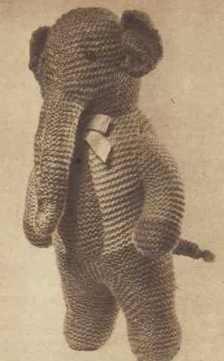 Knit An Elephant Toy Free Vintage Knitting Pattern Knitting And