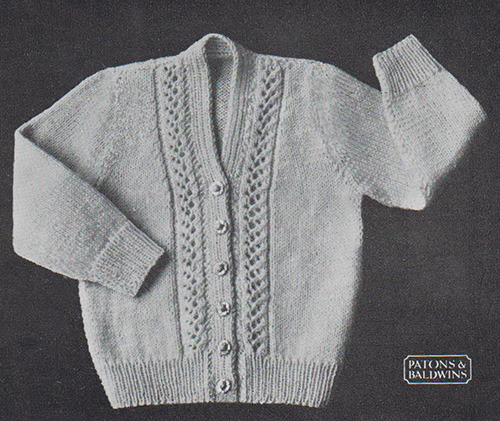 Alice Baby Cardigan Knitting And