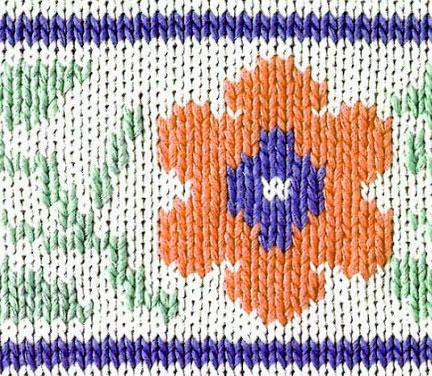 flower color knitting