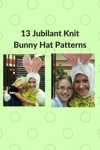 knit bunny hat