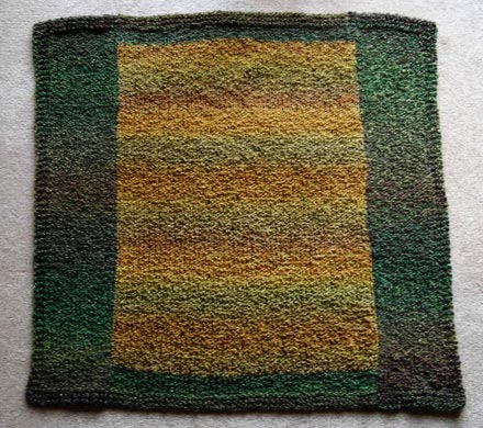 Color Block Baby Blanket Knitting Pattern