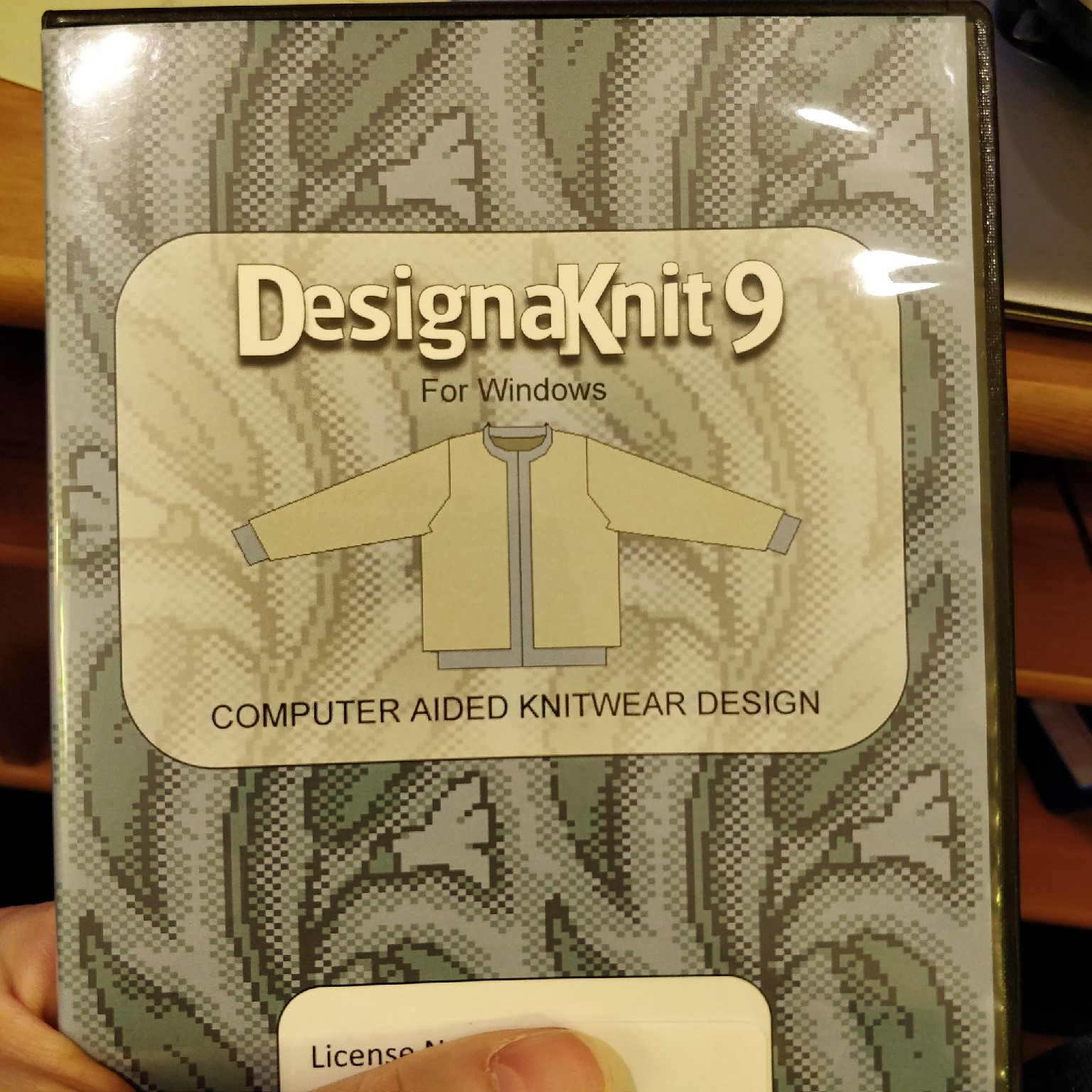 The CD case for Designaknit 9