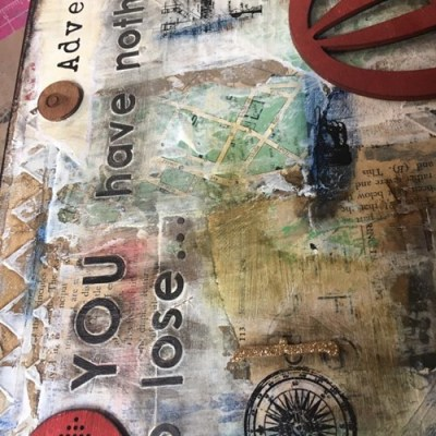 Adventure–a process video for Mixed Media Collage