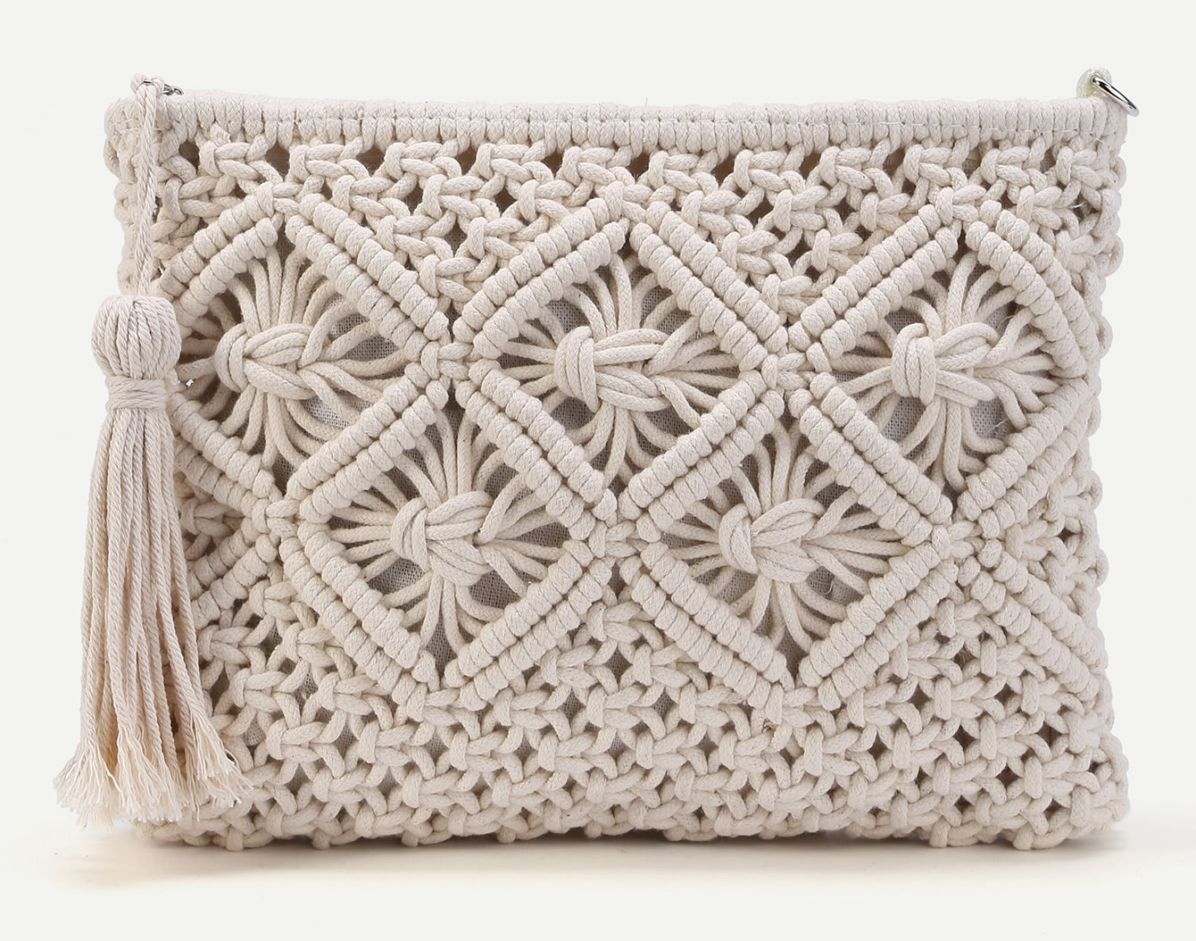 Crochet Clutch Bag With Tassel Knitting Crochet Dy