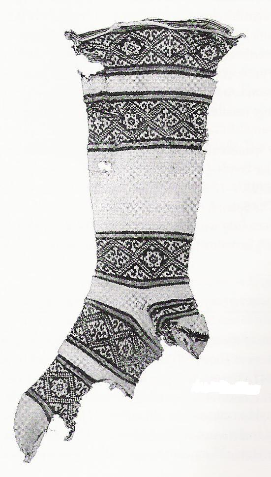 Coptic socks' from Egypt, dating to around the year 1000 CE