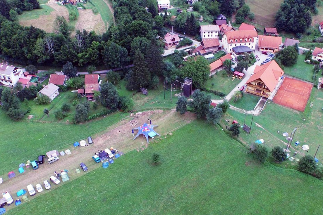 Campsite and Hotel Kovač (top right).