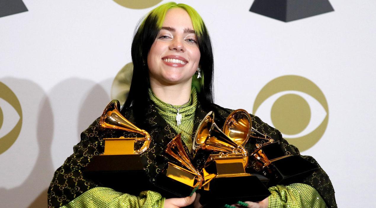 """Billie Eilish ganadora de 5 premios Grammy trabajó su álbum en un """"Home Studio"""""""