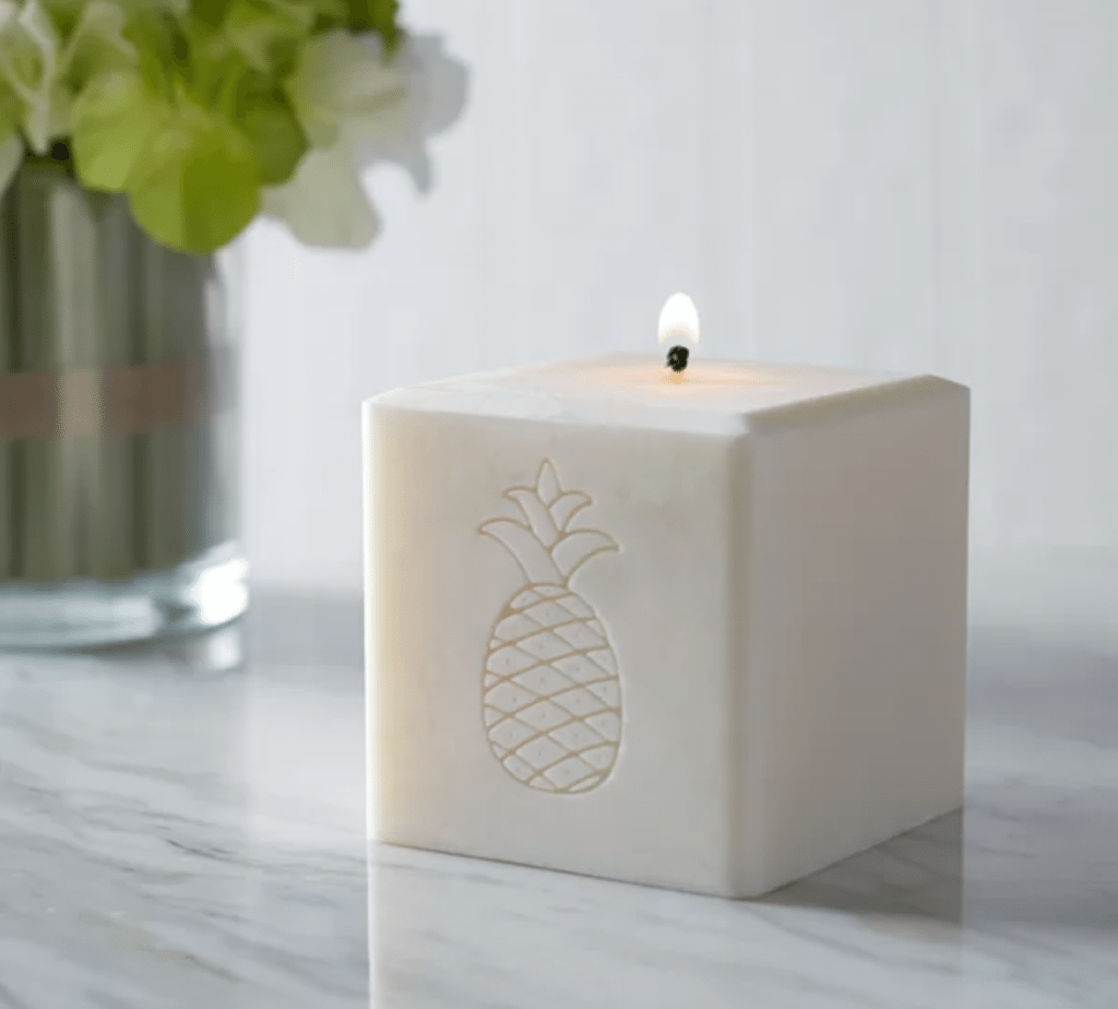 Pineapple Home Decor Products for the home for Pineapple Lovers Pineapple Candle